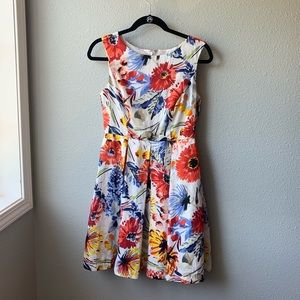 Donna Morgan floral dress sz 2 sleeveless zip back